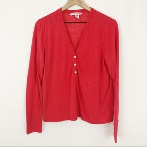 Victoria's Secret Oversized L/S Red Henley |A